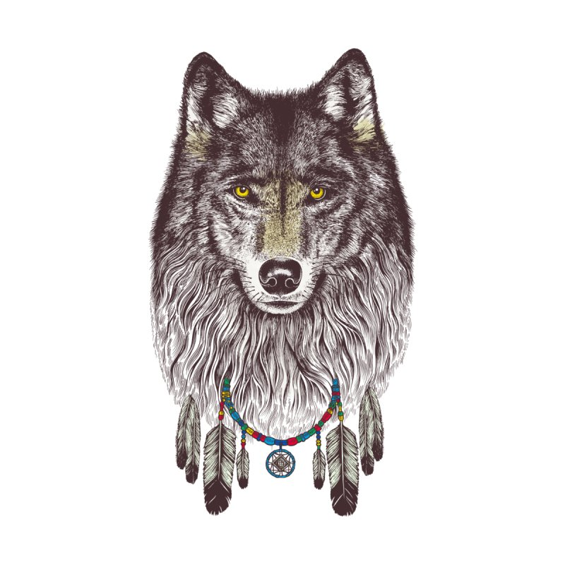 Dream Catcher Wolf by rcaldwell's Shop