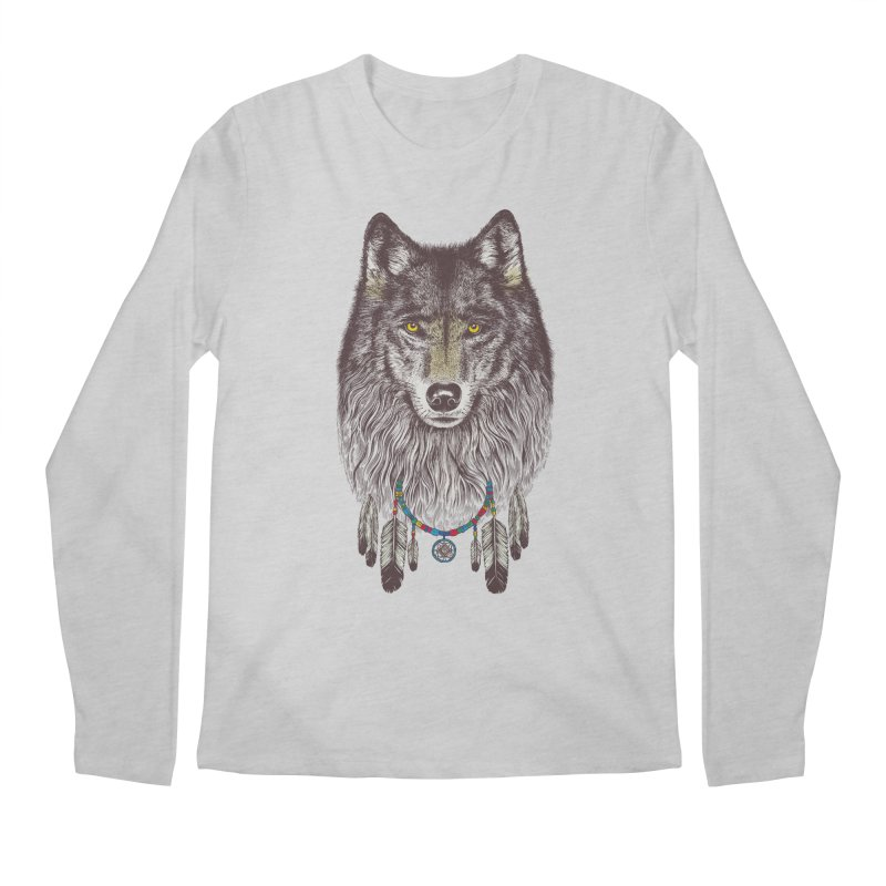 Dream Catcher Wolf Men's Longsleeve T-Shirt by rcaldwell's Shop