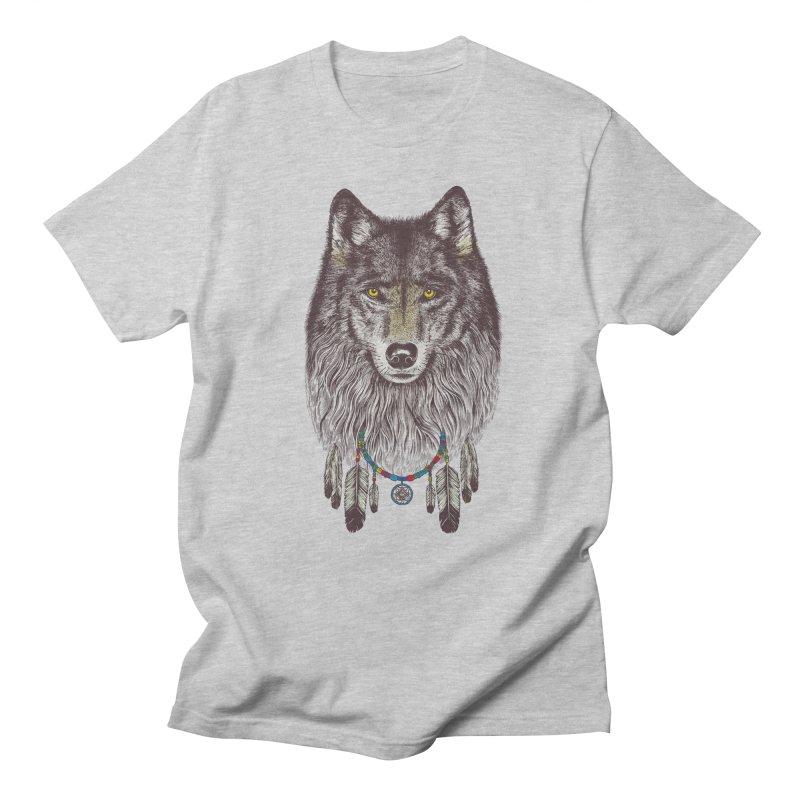 Dream Catcher Wolf Men's T-Shirt by rcaldwell's Shop