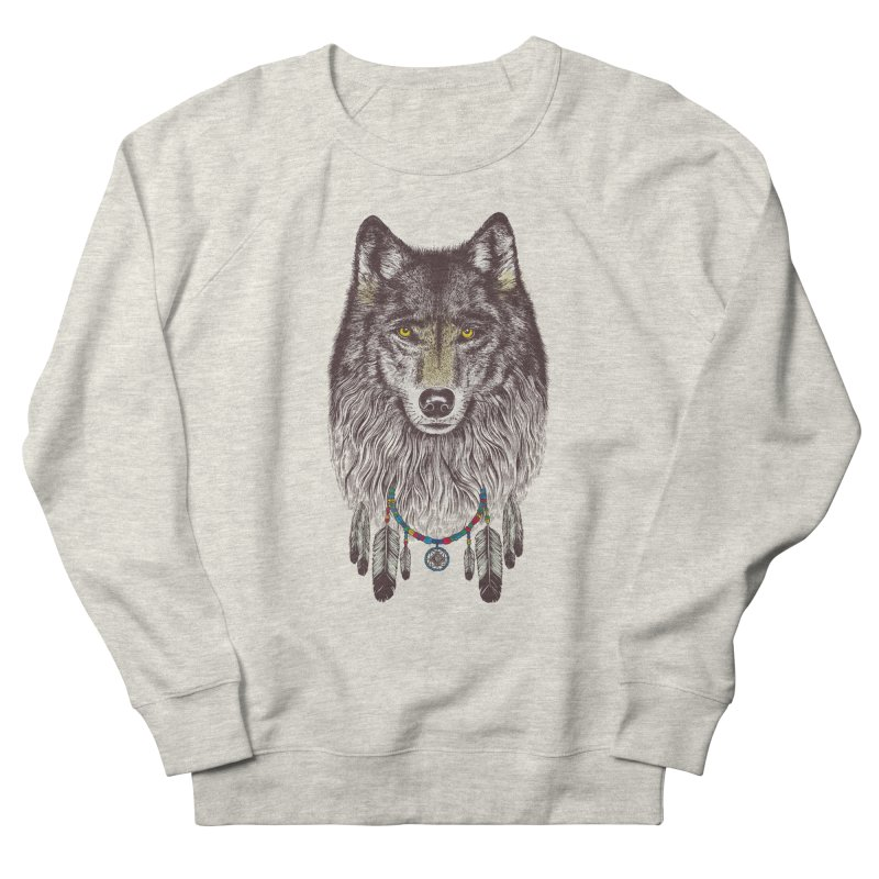 Dream Catcher Wolf Men's Sweatshirt by rcaldwell's Shop