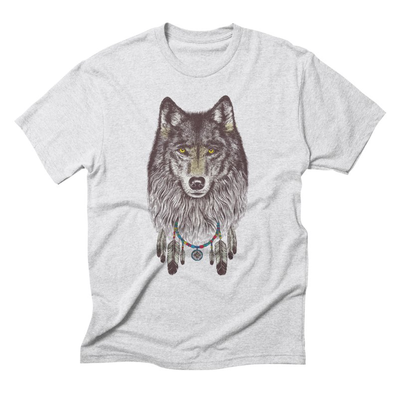 Dream Catcher Wolf Men's Triblend T-Shirt by rcaldwell's Shop