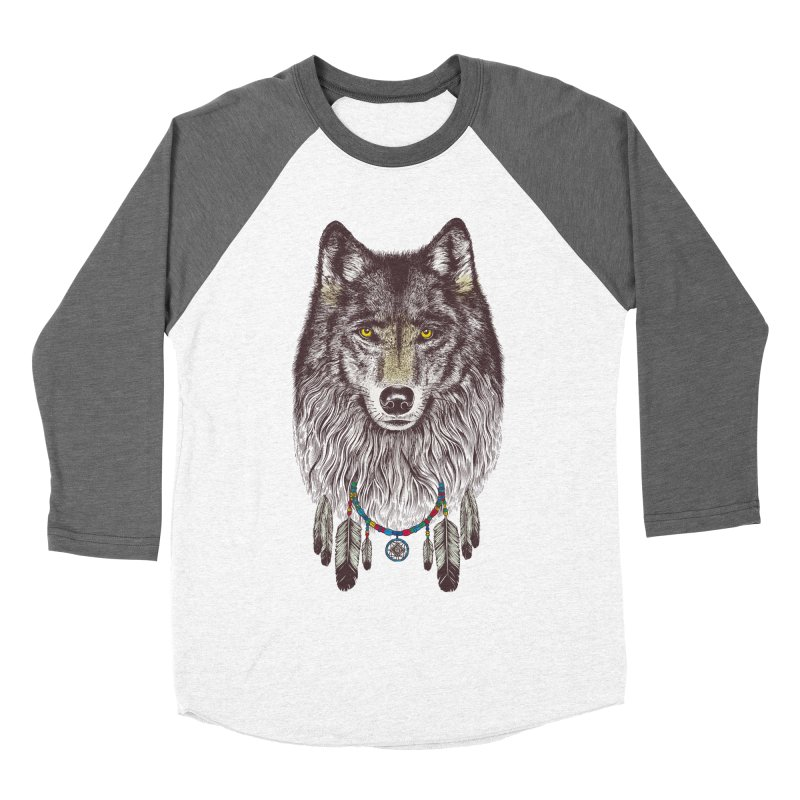 Dream Catcher Wolf Men's Baseball Triblend T-Shirt by rcaldwell's Shop