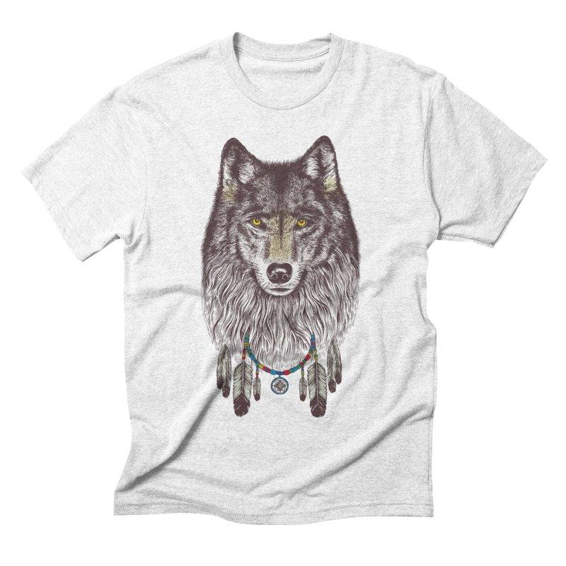 Dream Catcher Wolf Men's Triblend T-shirt by rcaldwell's Shop
