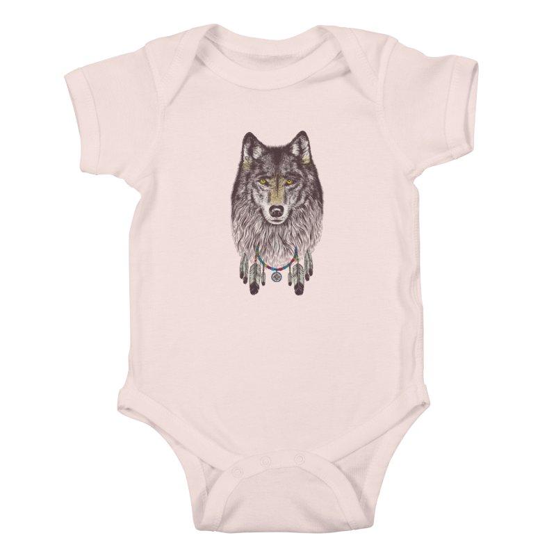 Dream Catcher Wolf Kids Baby Bodysuit by rcaldwell's Shop