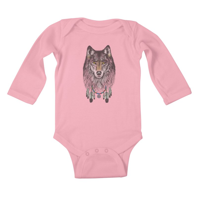 Dream Catcher Wolf Kids Baby Longsleeve Bodysuit by rcaldwell's Shop