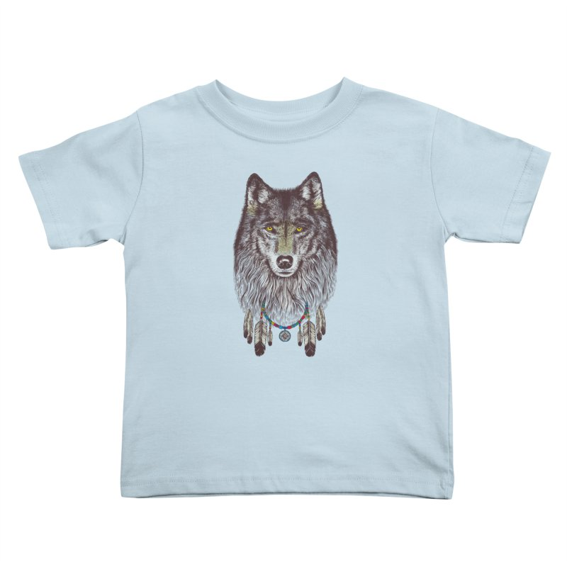 Dream Catcher Wolf Kids Toddler T-Shirt by rcaldwell's Shop