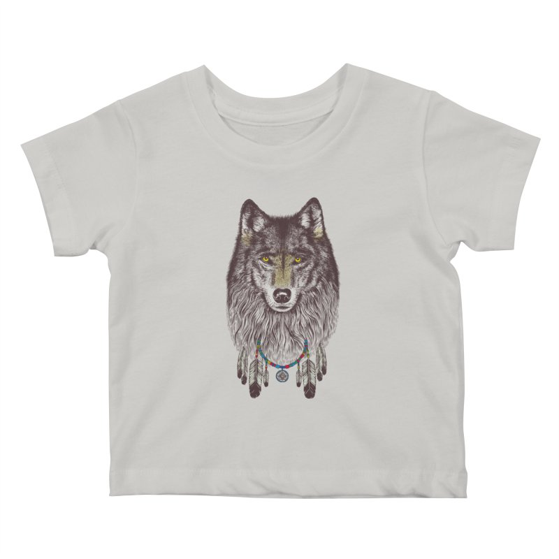 Dream Catcher Wolf Kids Baby T-Shirt by rcaldwell's Shop