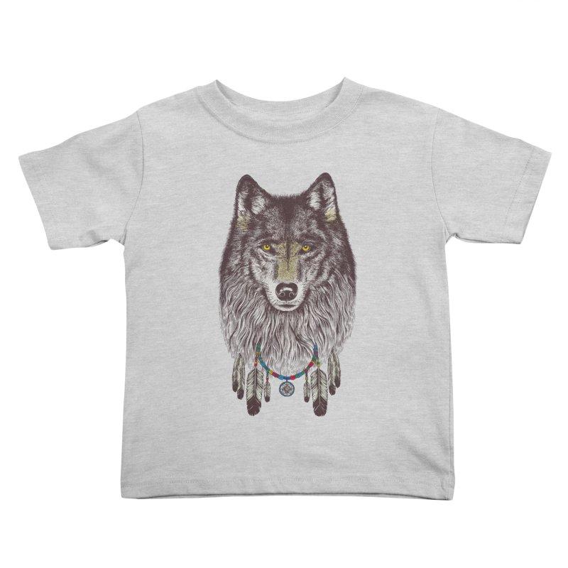 Dream Catcher Wolf Kids Toddler T-Shirt by rcaldwell's Shop