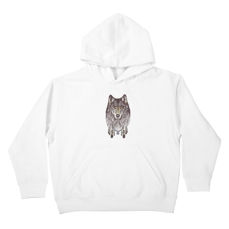 Dream Catcher Wolf Kids Pullover Hoody by rcaldwell's Shop