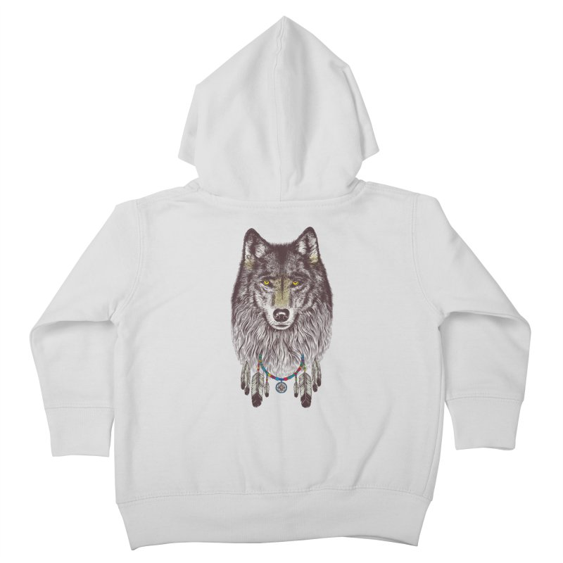 Dream Catcher Wolf Kids Toddler Zip-Up Hoody by rcaldwell's Shop