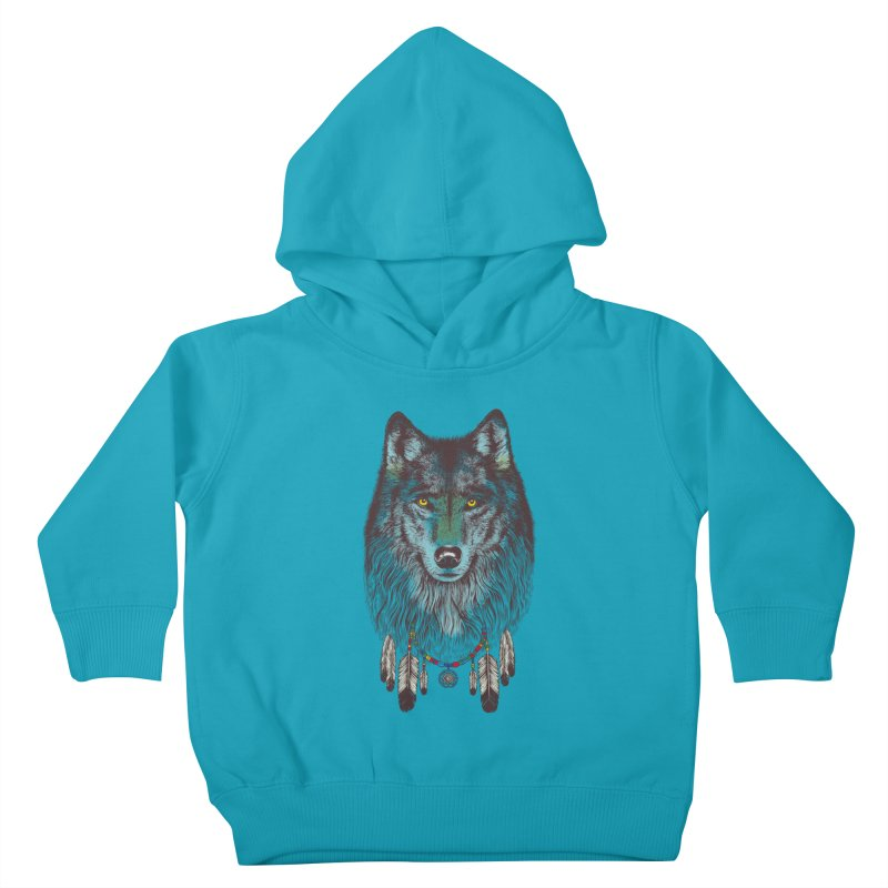 Dream Catcher Wolf Kids Toddler Pullover Hoody by rcaldwell's Shop