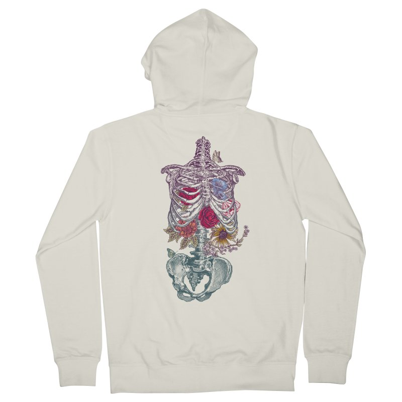 Rib Cage with Flowers Women's Zip-Up Hoody by rcaldwell's Shop