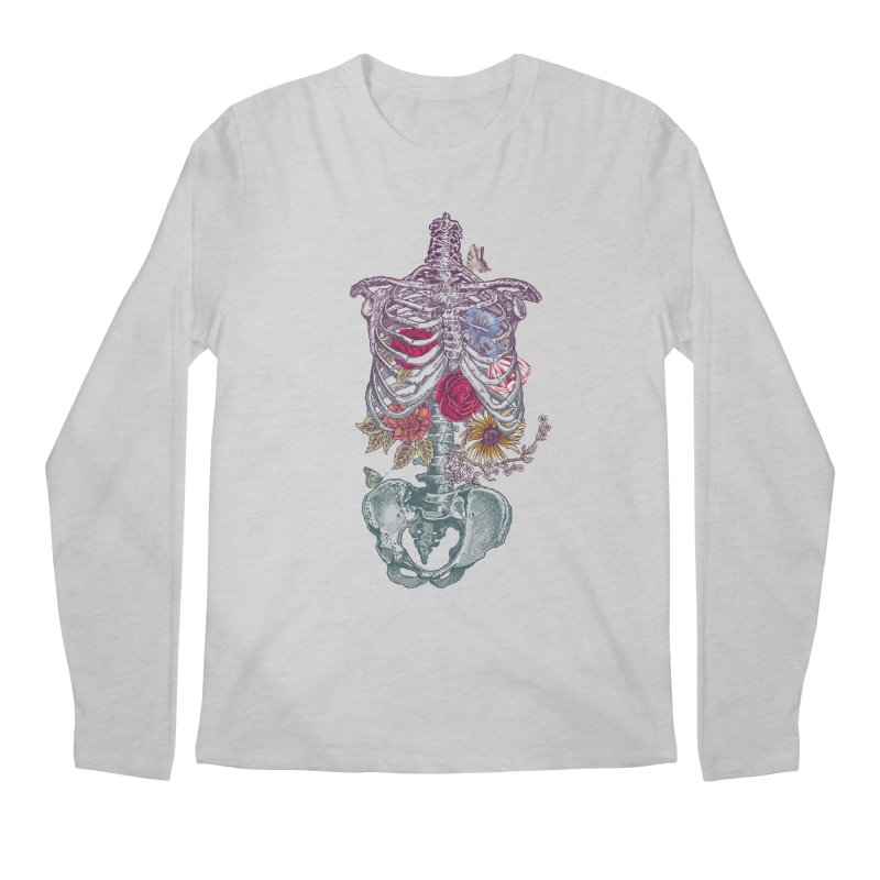 Rib Cage with Flowers Men's Longsleeve T-Shirt by rcaldwell's Shop