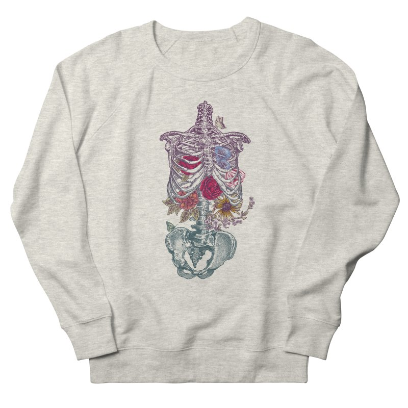 Rib Cage with Flowers Men's Sweatshirt by rcaldwell's Shop