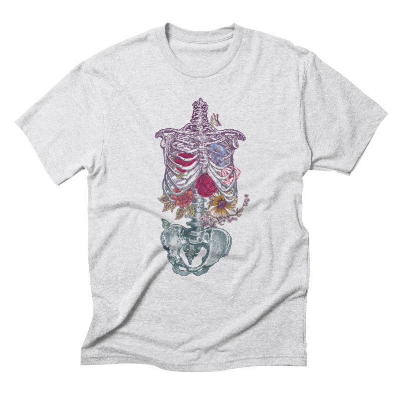 Rib Cage with Flowers Men's Triblend T-Shirt by rcaldwell's Shop
