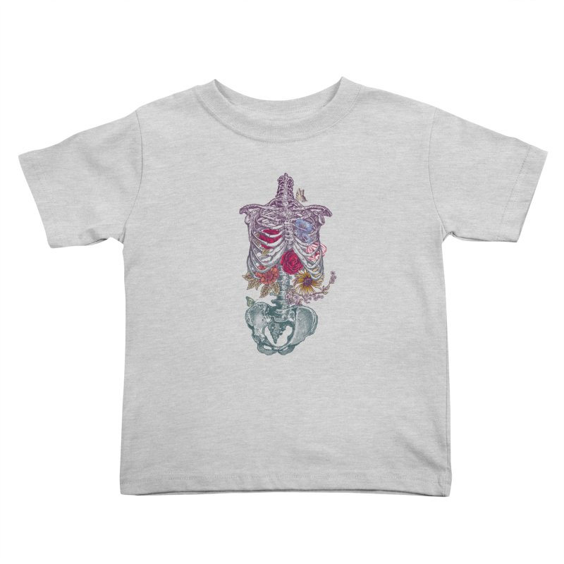 Rib Cage with Flowers Kids Toddler T-Shirt by rcaldwell's Shop