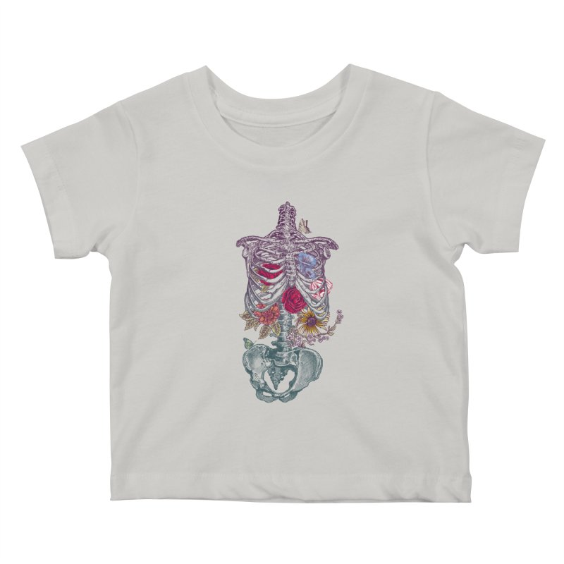 Rib Cage with Flowers Kids Baby T-Shirt by rcaldwell's Shop