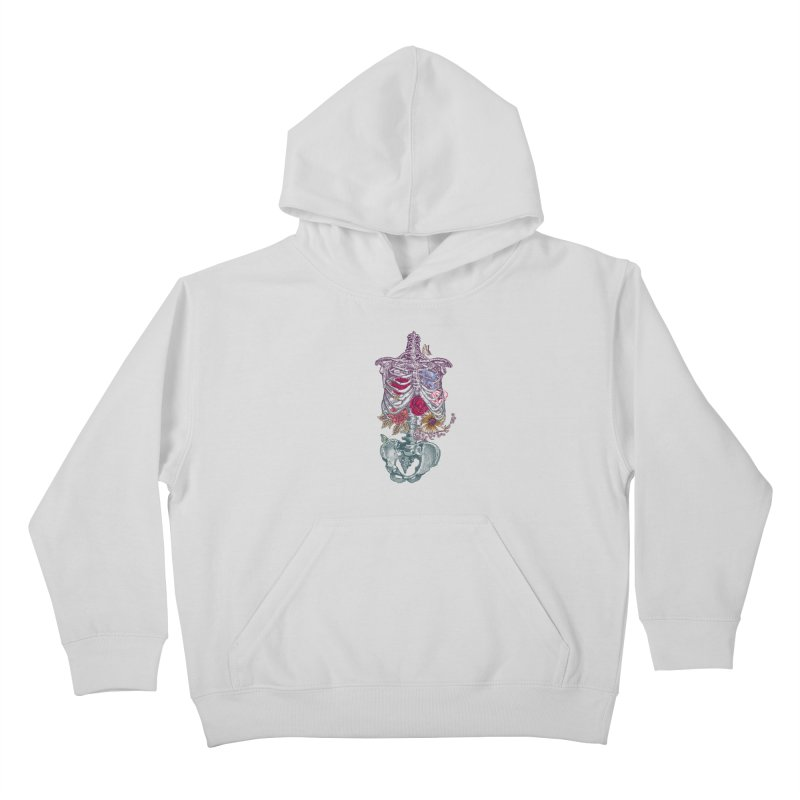 Rib Cage with Flowers Kids Pullover Hoody by rcaldwell's Shop