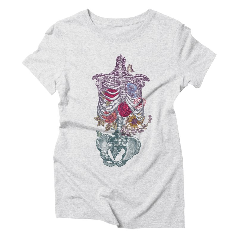 Rib Cage with Flowers Women's Triblend T-shirt by rcaldwell's Shop