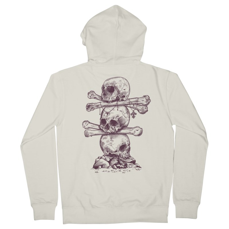 Skull Totem Men's Zip-Up Hoody by rcaldwell's Shop