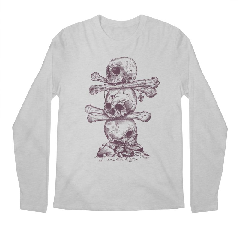 Skull Totem Men's Longsleeve T-Shirt by rcaldwell's Shop