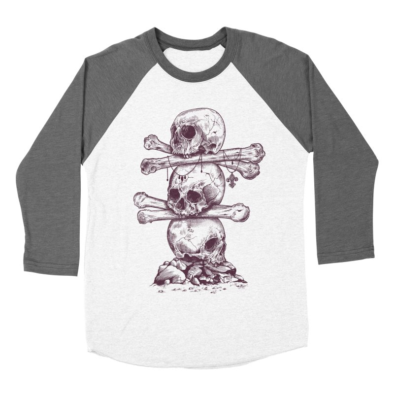 Skull Totem Men's Baseball Triblend T-Shirt by rcaldwell's Shop