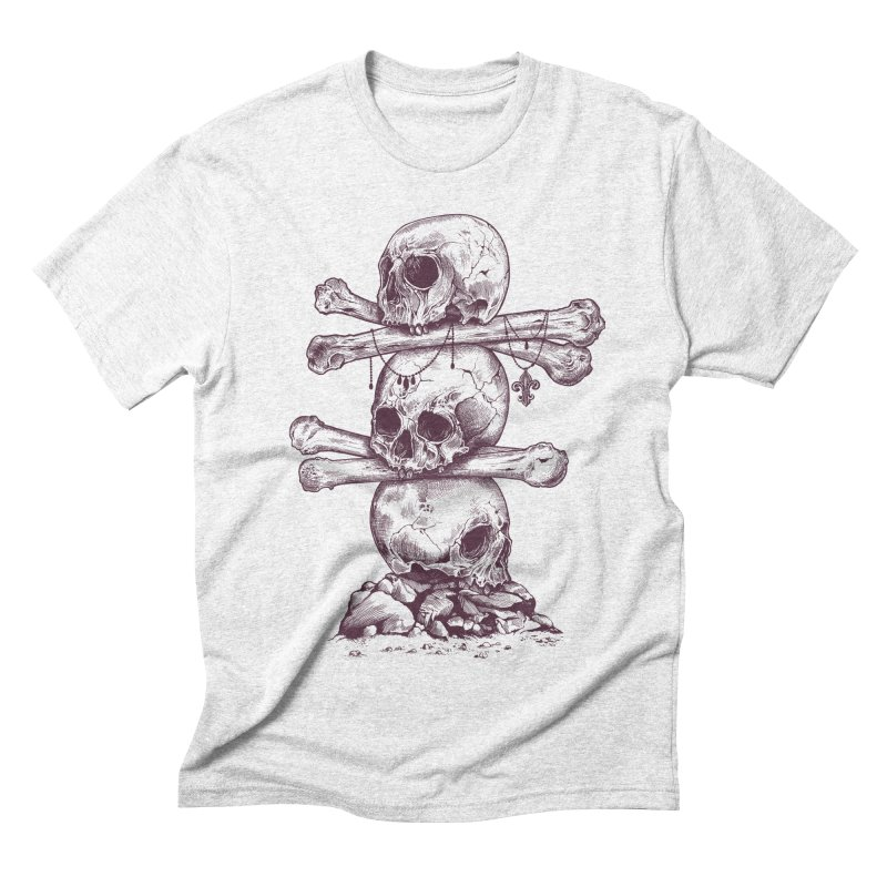 Skull Totem Men's Triblend T-shirt by rcaldwell's Shop