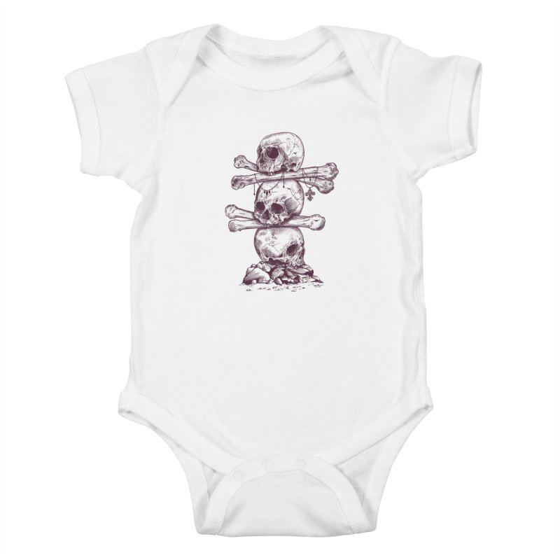 Skull Totem Kids Baby Bodysuit by rcaldwell's Shop