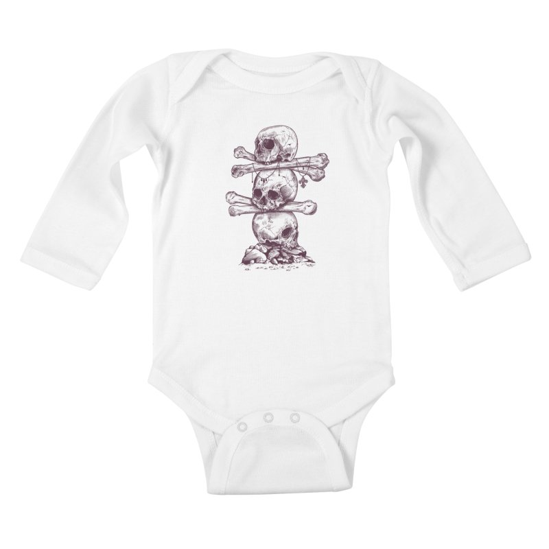 Skull Totem Kids Baby Longsleeve Bodysuit by rcaldwell's Shop