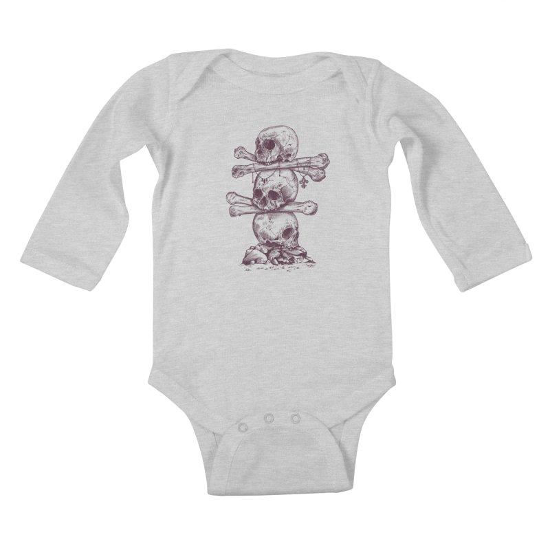 Skull Totem Kids Baby Longsleeve Bodysuit by rcaldwell's Shop
