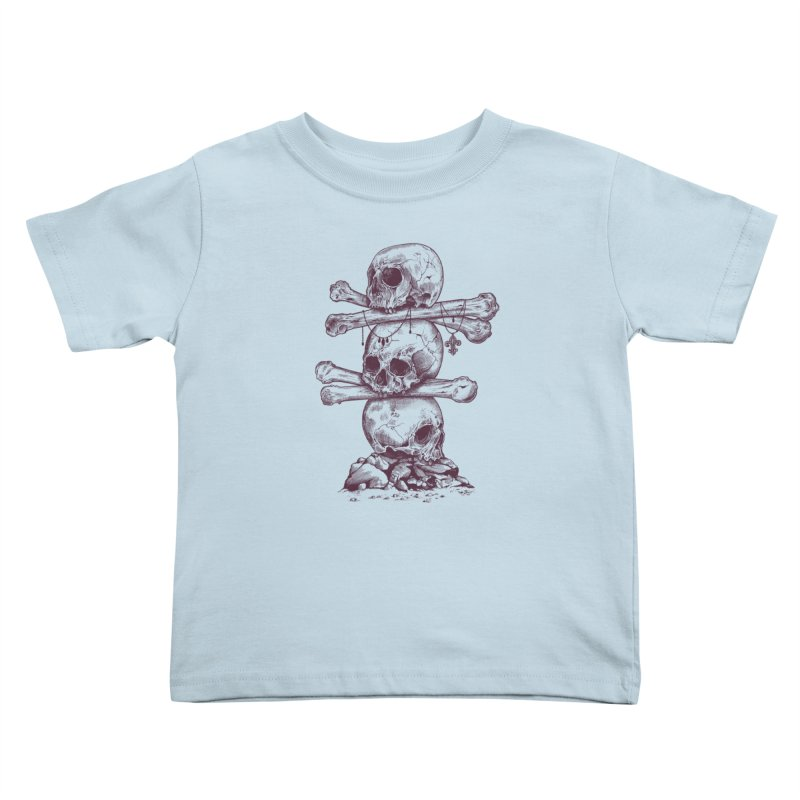 Skull Totem Kids Toddler T-Shirt by rcaldwell's Shop