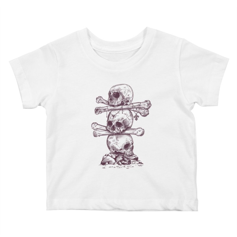 Skull Totem Kids Baby T-Shirt by rcaldwell's Shop