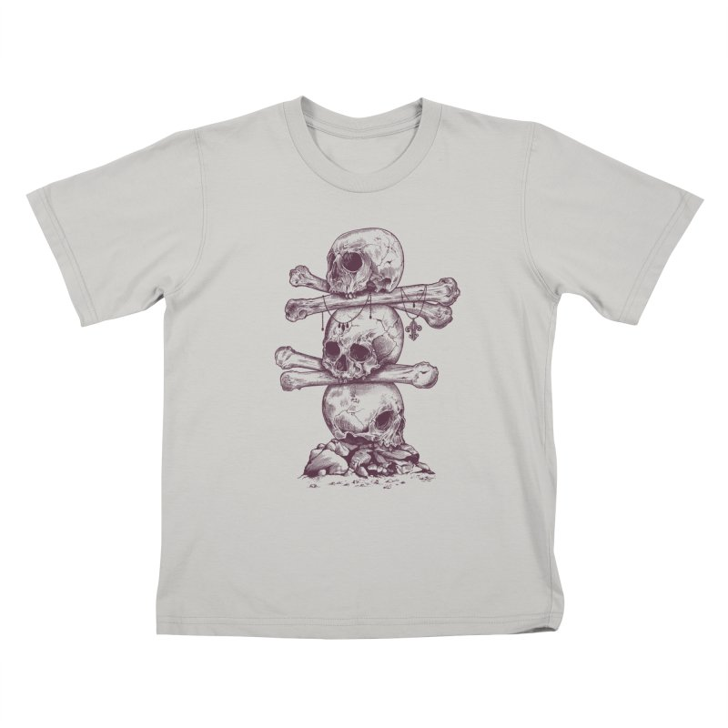 Skull Totem Kids T-shirt by rcaldwell's Shop