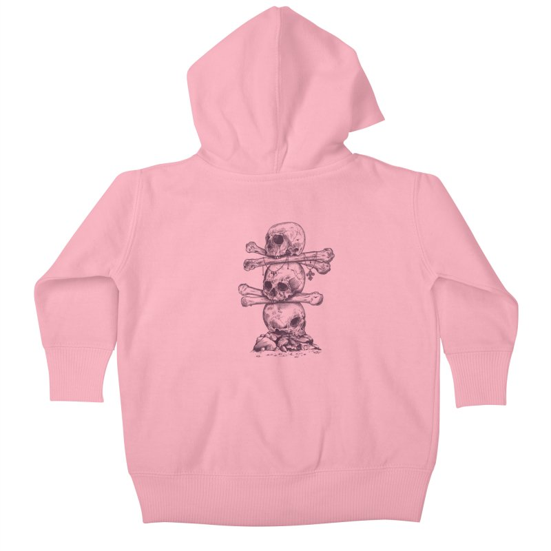 Skull Totem Kids Baby Zip-Up Hoody by rcaldwell's Shop