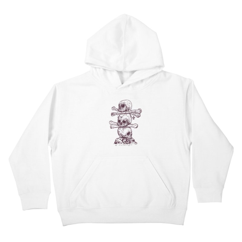 Skull Totem Kids Pullover Hoody by rcaldwell's Shop