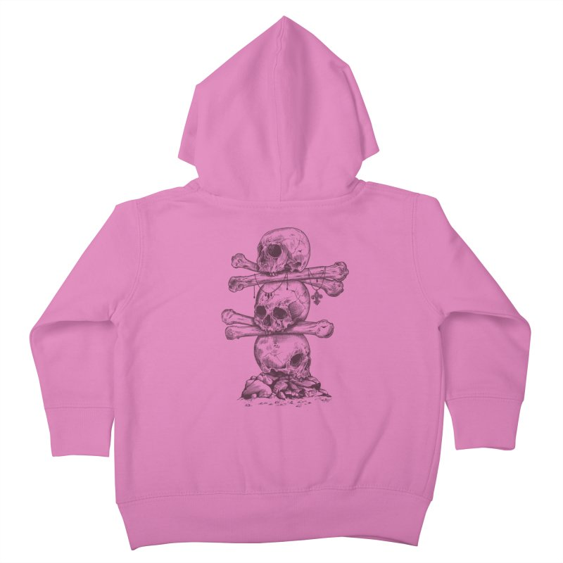 Skull Totem Kids Toddler Zip-Up Hoody by rcaldwell's Shop