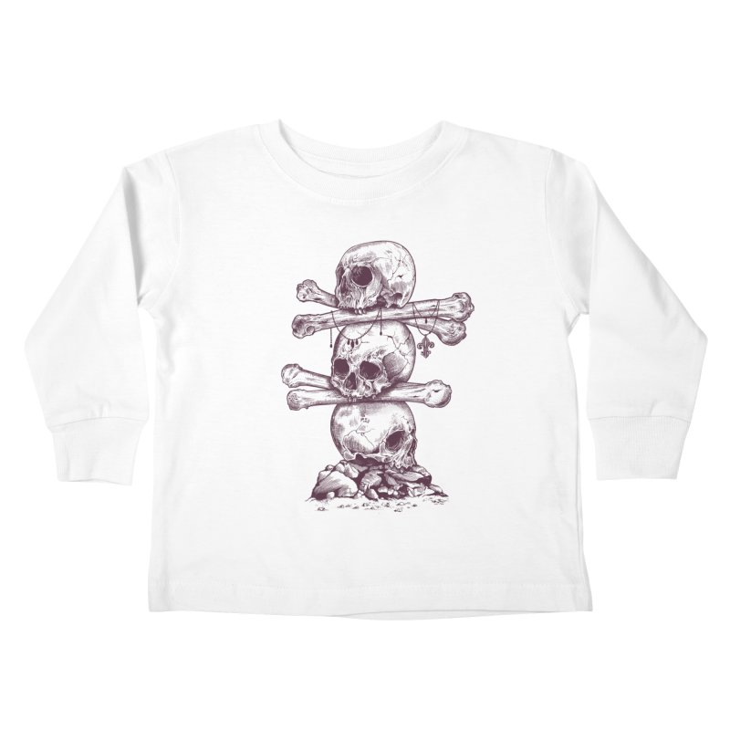 Skull Totem Kids Toddler Longsleeve T-Shirt by rcaldwell's Shop