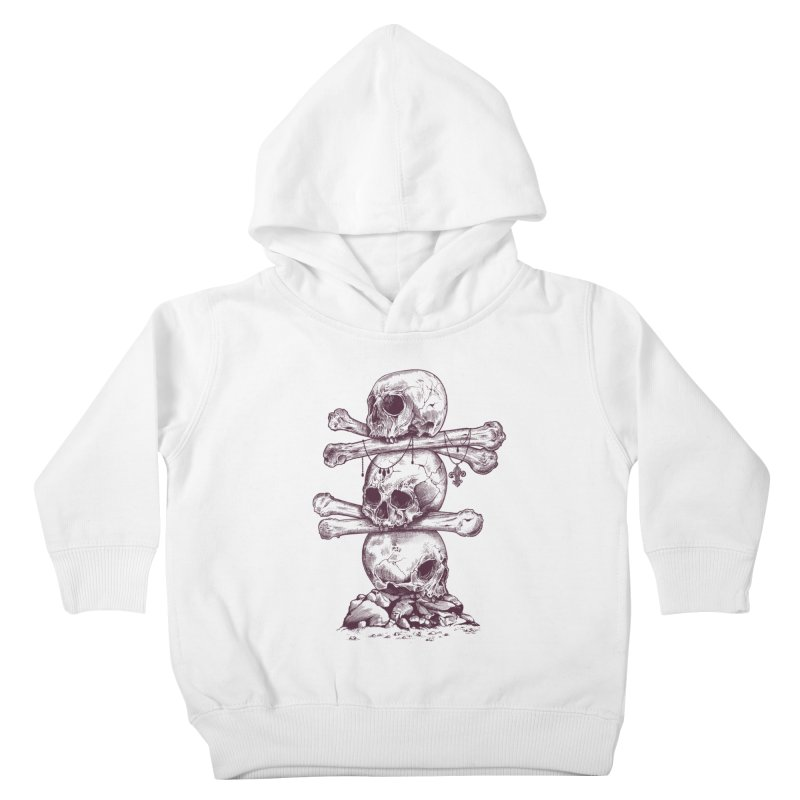 Skull Totem Kids Toddler Pullover Hoody by rcaldwell's Shop