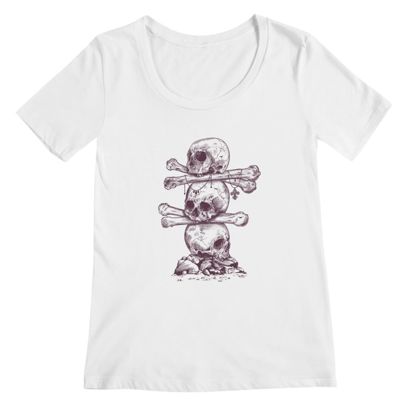 Skull Totem Women's Scoopneck by rcaldwell's Shop