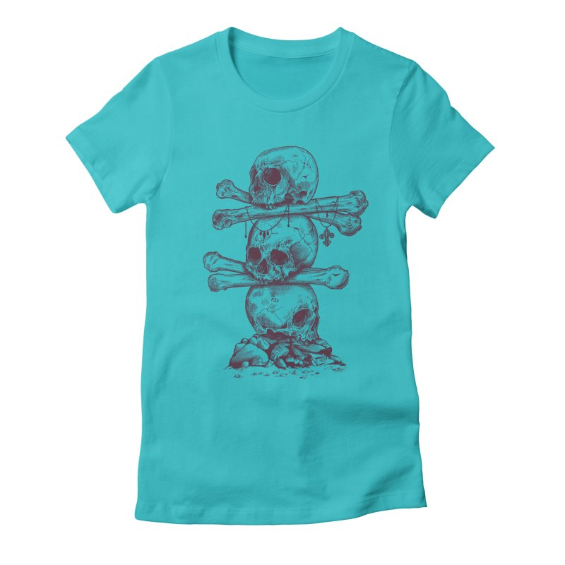 Skull Totem Women's Fitted T-Shirt by rcaldwell's Shop