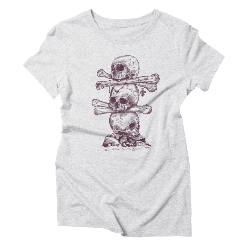 Skull Totem Women's Triblend T-shirt by rcaldwell's Shop