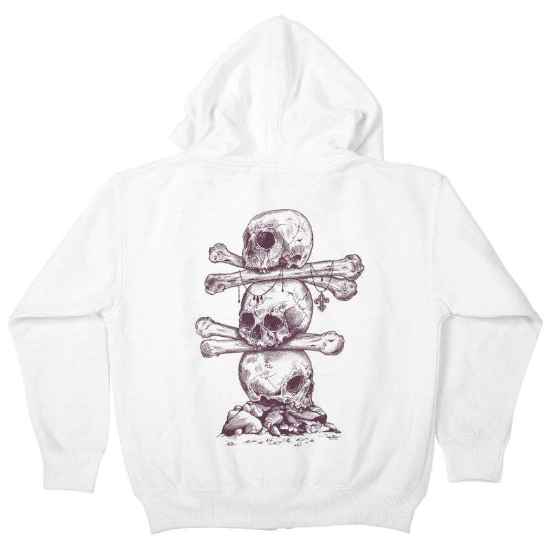 Skull Totem Kids Zip-Up Hoody by rcaldwell's Shop