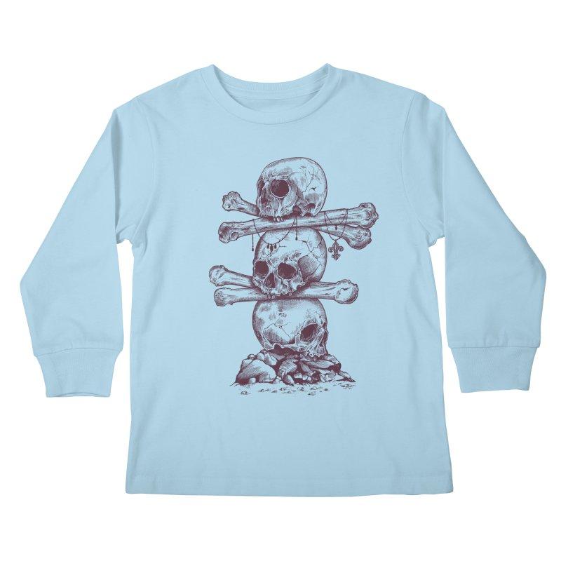 Skull Totem Kids Longsleeve T-Shirt by rcaldwell's Shop