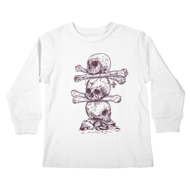 Skull Totem Kids Longsleeve T-Shirt by rcaldwell's Shop