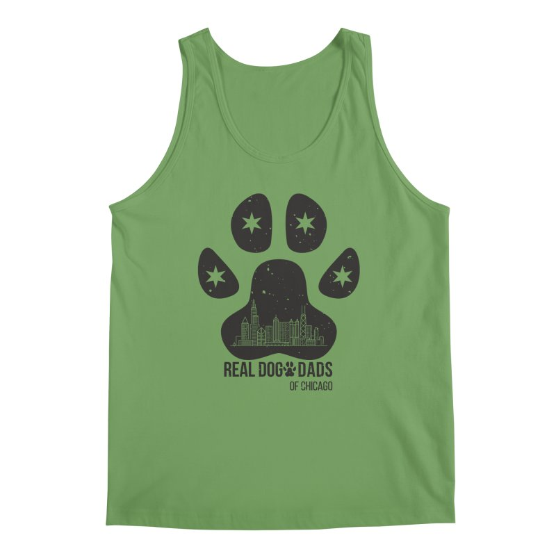 Chicago Dad Paw Men's Tank by rdmoc's Artist Shop