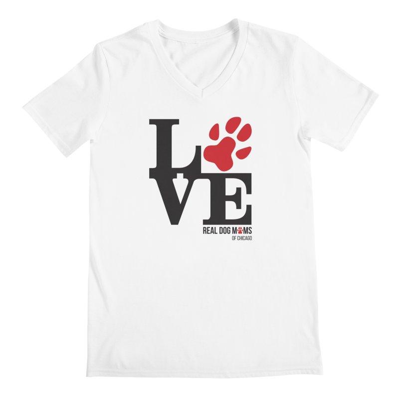 Love Paws Men's V-Neck by rdmoc's Artist Shop