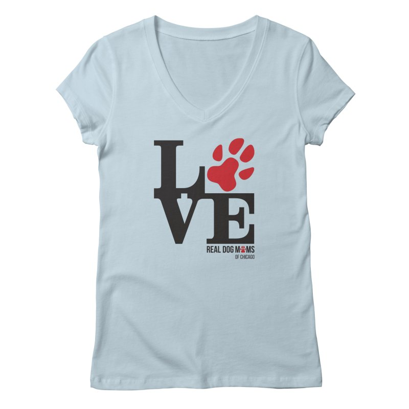Love Paws Women's V-Neck by rdmoc's Artist Shop