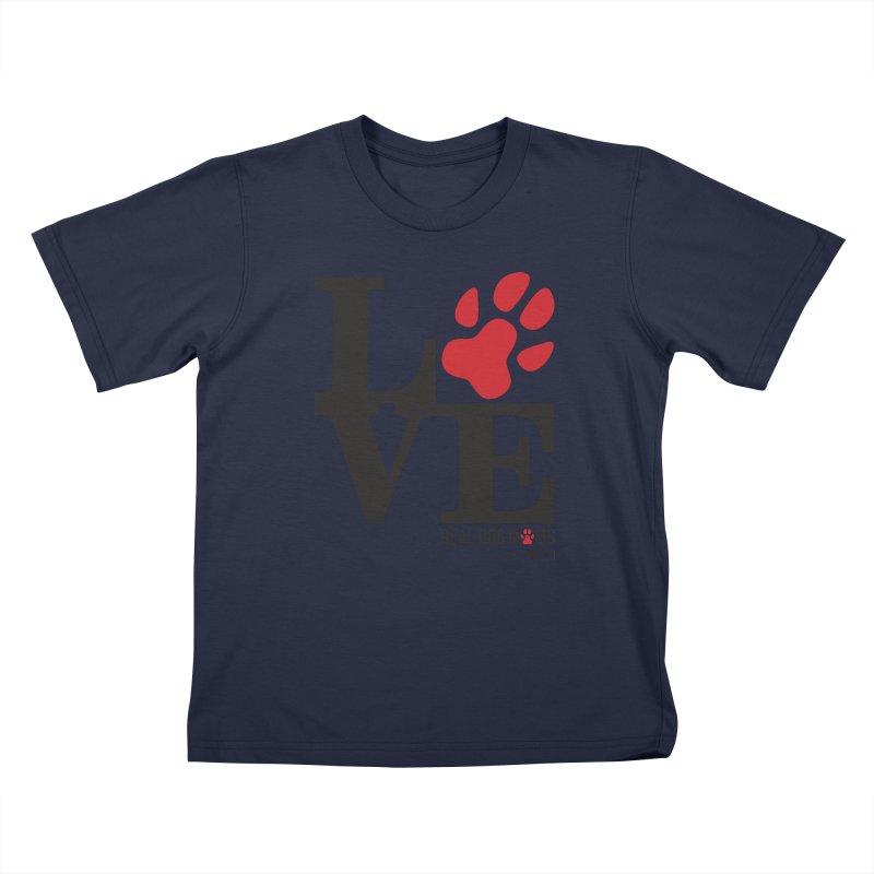Love Paws Kids T-Shirt by rdmoc's Artist Shop