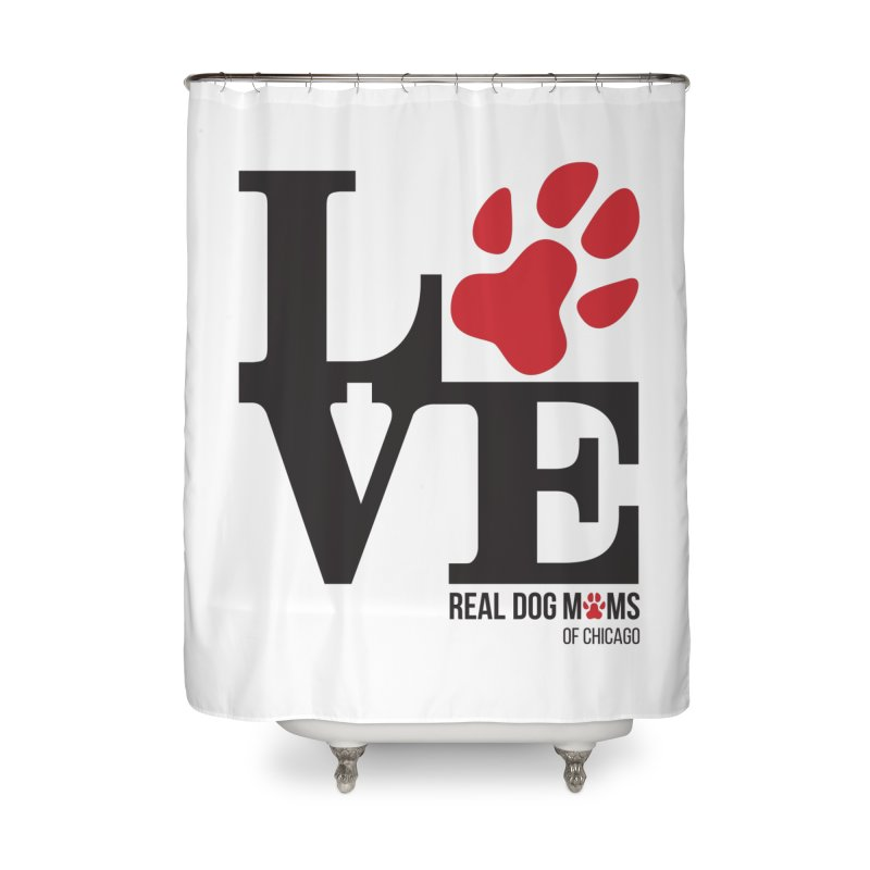 Love Paws Home Shower Curtain by RDMOC's Artist Shop
