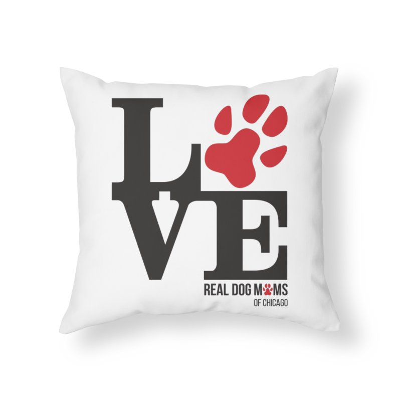 Love Paws Home Throw Pillow by RDMOC's Artist Shop